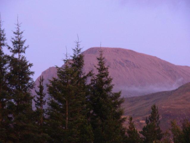 Rosy view of Ben Nevis