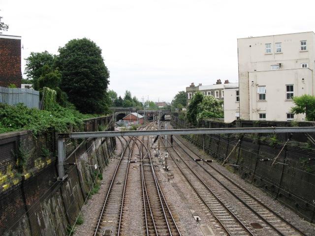 Railway lines near Oak Village, NW5