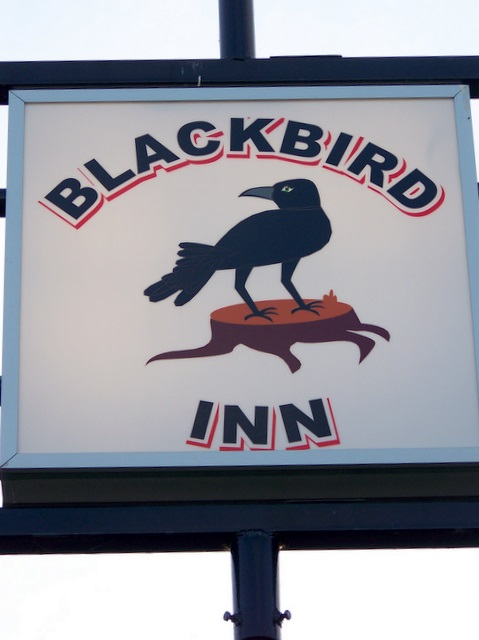 Sign for the Blackbird Inn