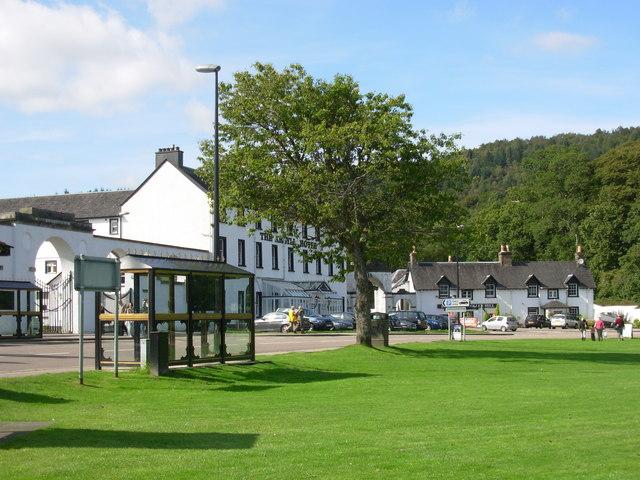 Inveraray - The Argyll Hotel across the green