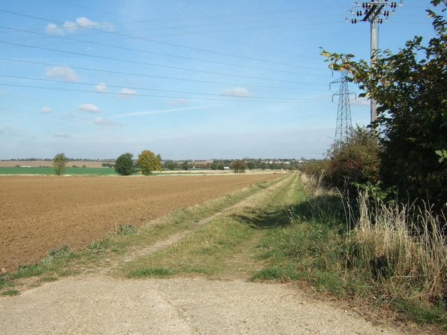 Grass farm track, Waterloo Farm, Huntingdon