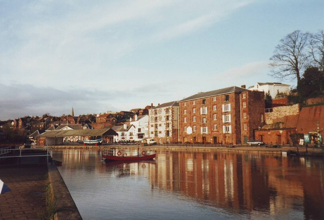 The quay at Exeter, Devon