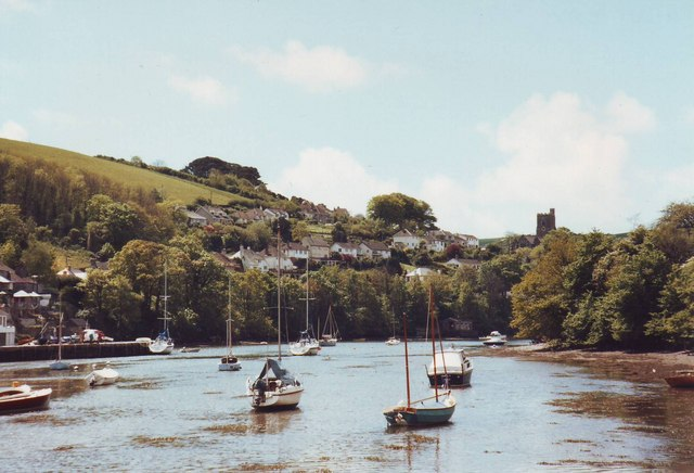 Newton Creek looking towards Noss Mayo, Devon