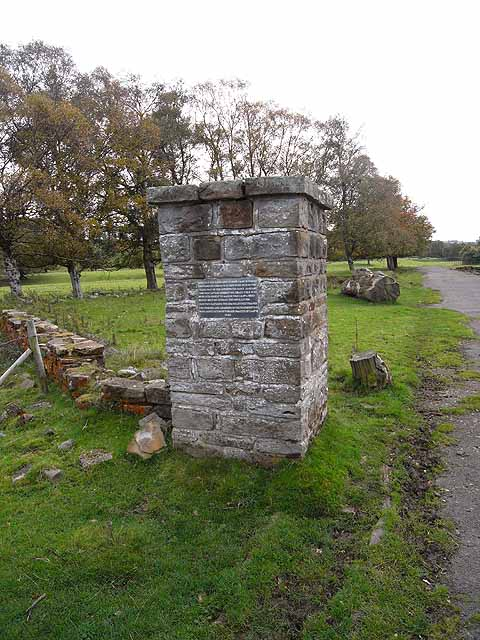Pillar at Featherstone POW camp