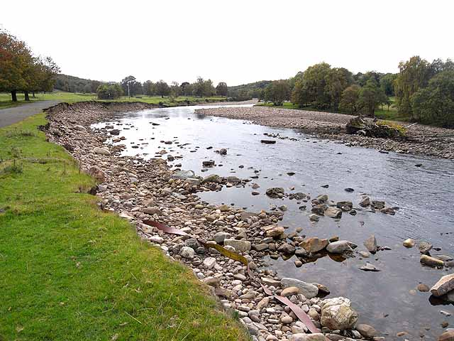 Gravel banks in the South Tyne