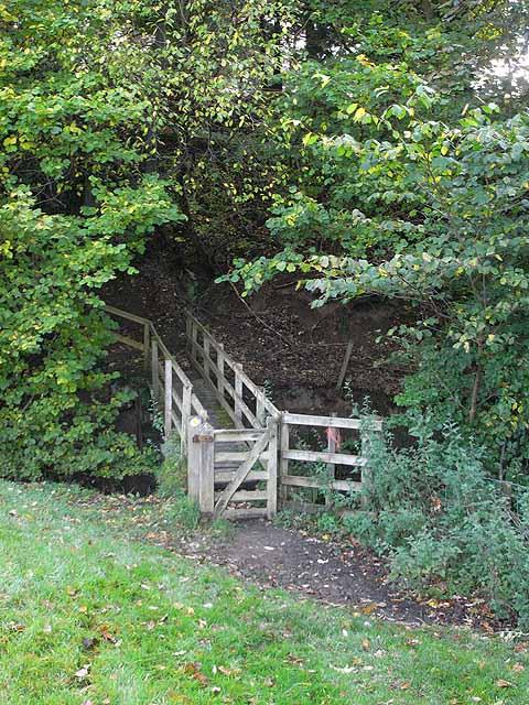 Footbridge below Park Village