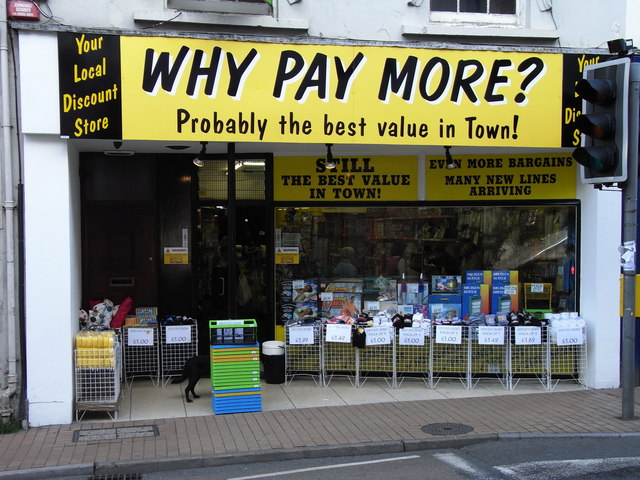 'Why Pay More' 19 The High Street, Ilfracombe