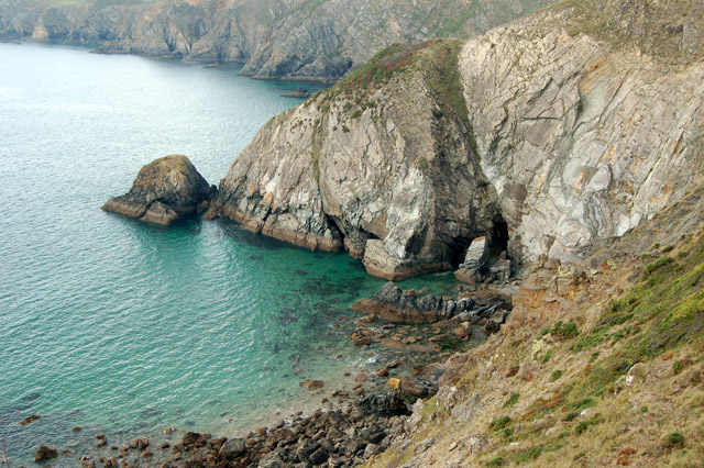 Coast and cliffs west of Dinas Fawr, Pembrokeshire