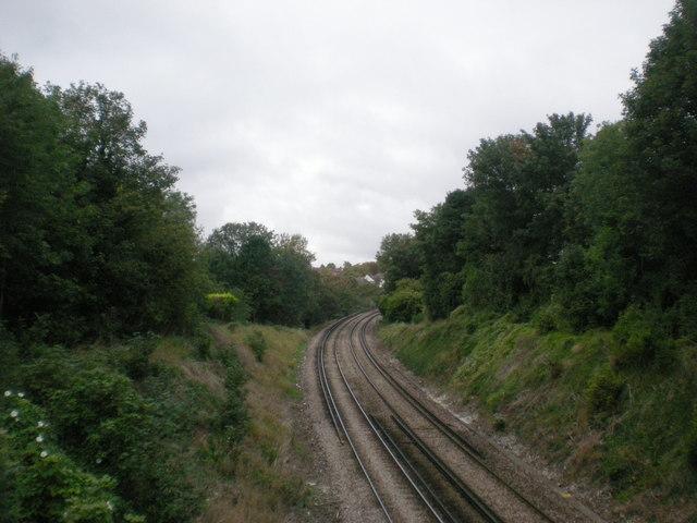Railway line near Carshalton Beeches