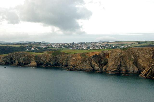 Looking northwest to Upper Solva from Dinas Fawr headland