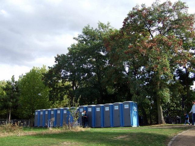 Trees and toilets, Wennington Green