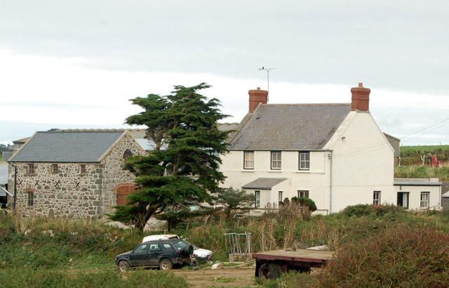 The farmhouse at St Elvis Farm, east of Solva