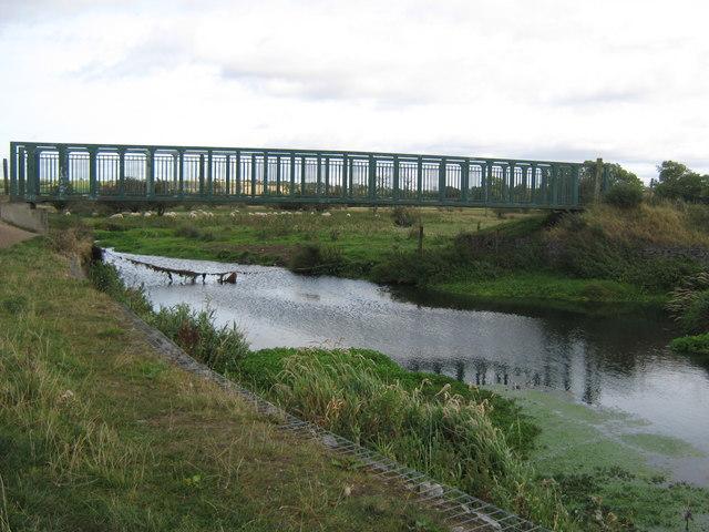 Footbridge over the River Gaunless