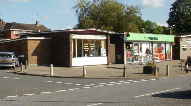 Shops on corner of Brynhyfryd and North Road, Croesyceiliog, Cwmbran