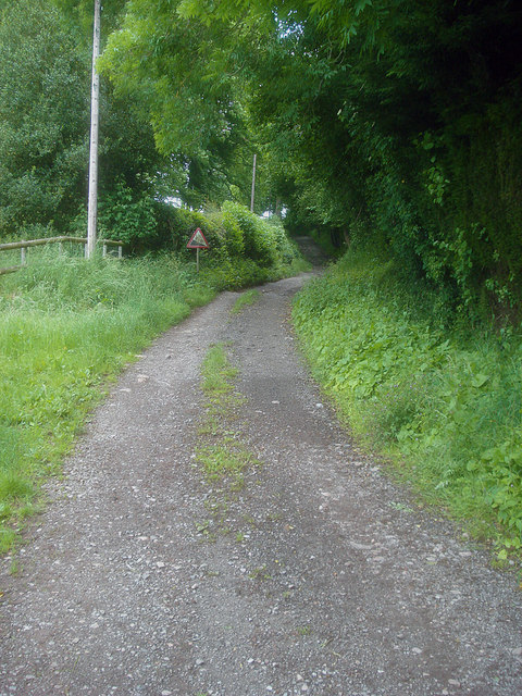 Farm track at Pinford Farm