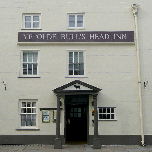 Bull's Head facade and entrance
