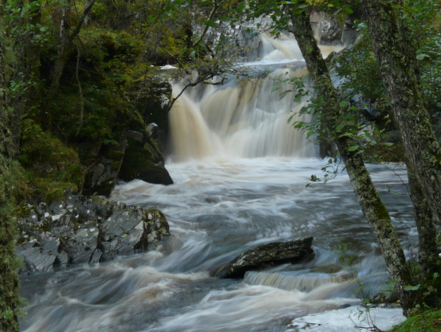 Falls on Allt Dubh Chlaic.