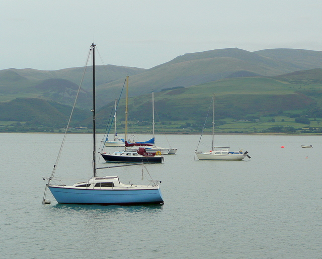 Yachts on the Menai