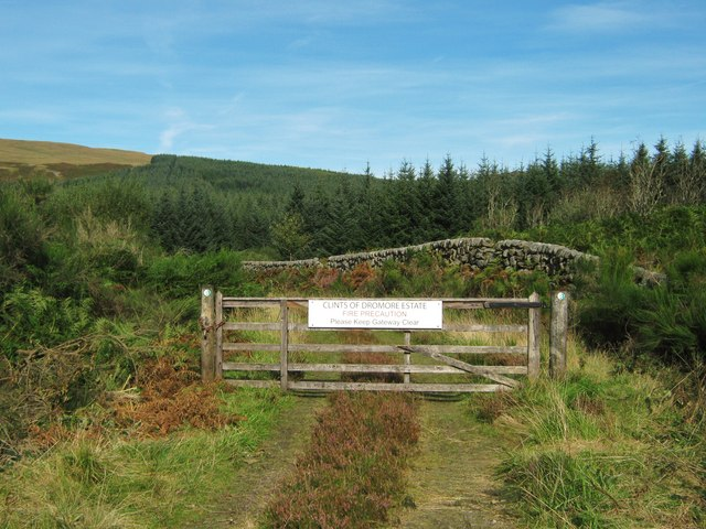 Forestry gate on the Clints of Dromore estate