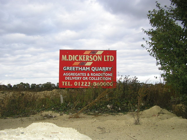 Sign at the entrance to Greetham Quarry