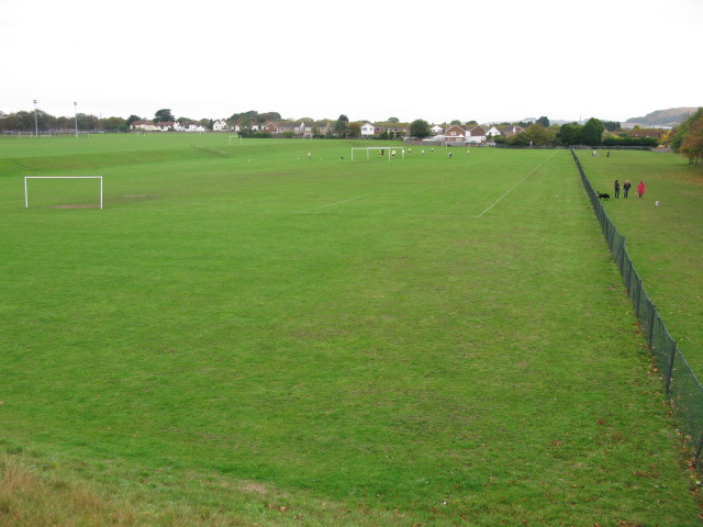 Playing fields from Cornwallis Avenue