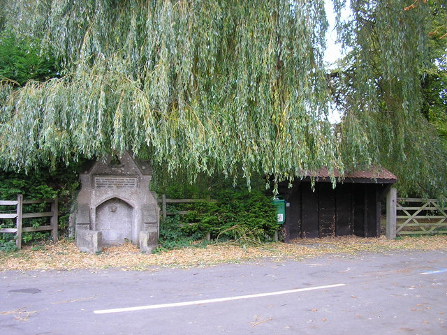 The drinking fountain and bus shelter, Church Lane, Greetham