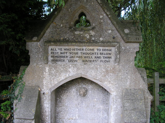 Inscription on the Drinking Fountain, Greetham