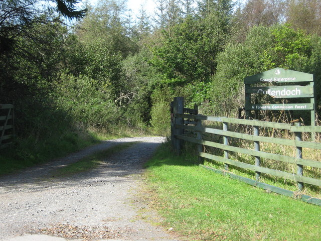 The entrance to the forest walks at Cullendoch