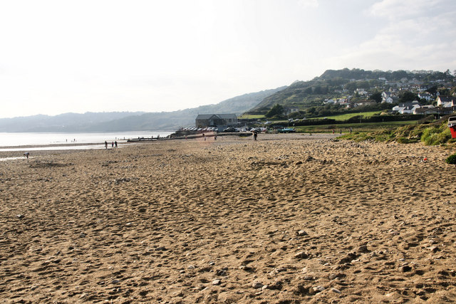 Towards Charmouth from the Soft Rock Cafe