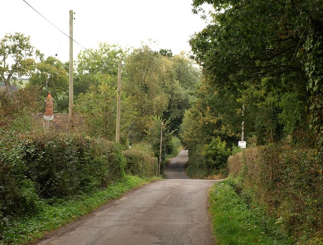 Lane past Crossways Farm