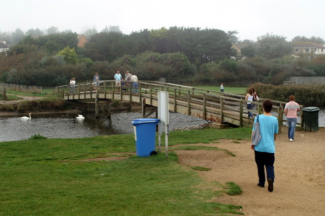 Footbridge Over River Char, Charmouth