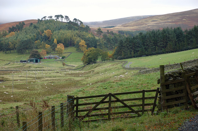 Upper Newby Farm and the track into Glen Sax
