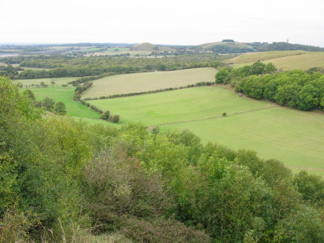 View from road above Peene