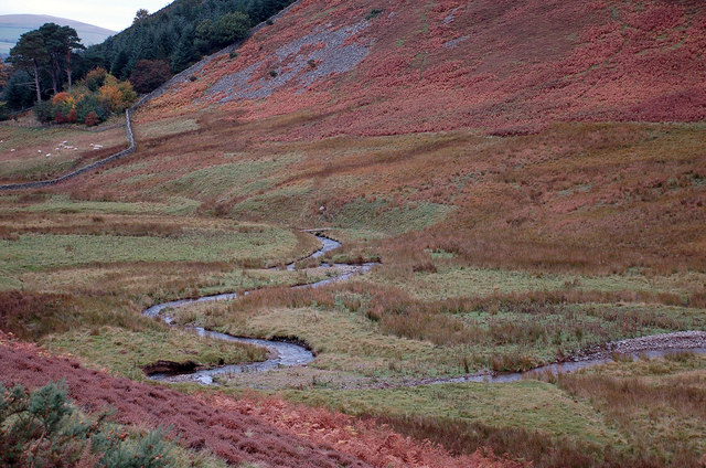 Meanders on the Glensax Burn