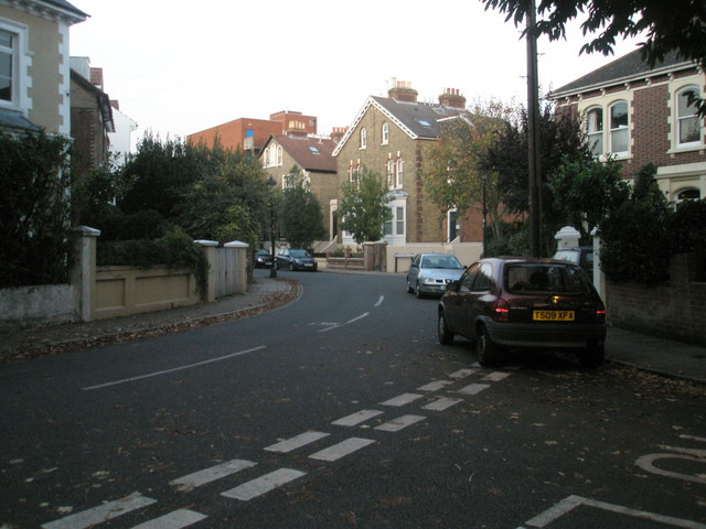 Looking from The Thicket into Albany Road