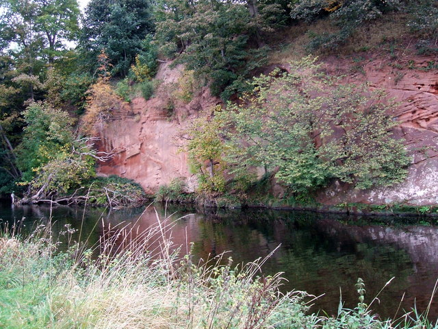 Sandstone bluffs by the River Eamont
