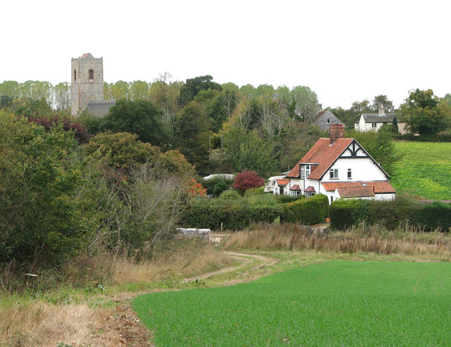View towards St Andrew's church