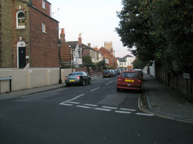 Looking from Albany Road into Stafford Road