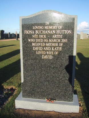 My sisters headstone in Kingskettle Cemetery
