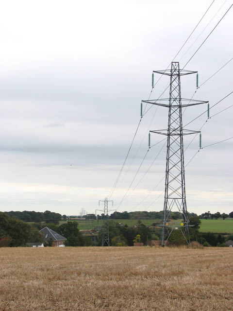 View along power line