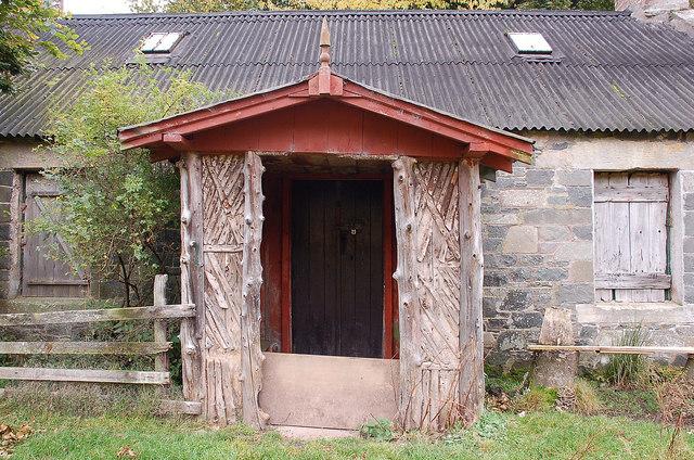 The old front door, Glensax Farm