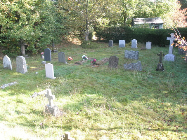 A sunlit churchyard at St Mary Magdalene, West Lavington