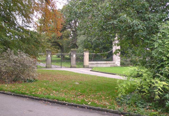 Iron gates at Adlington Hall