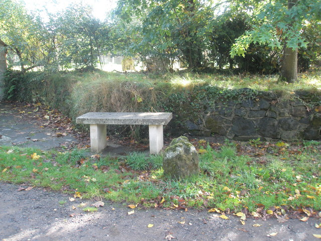 Stone seat outside St George's, Trotton