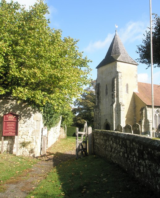 A splendid autumn morning at St George's, Trotton