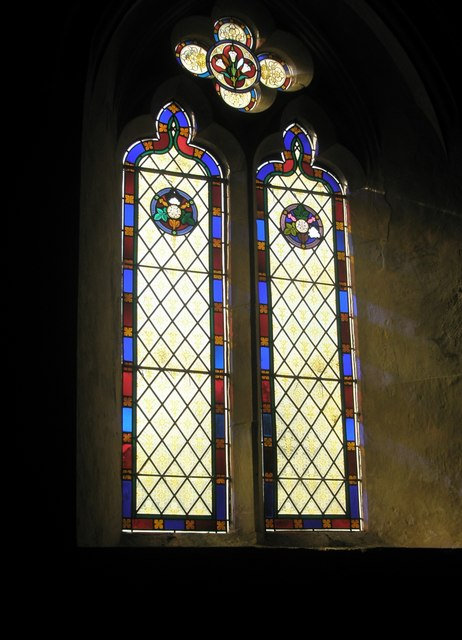Stained glass window on the north wall at St George's, Trotton (2)