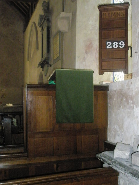 The pulpit at St George's, Trotton