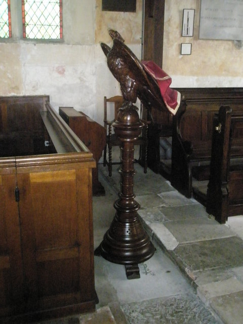 The lectern at St George's, Trotton