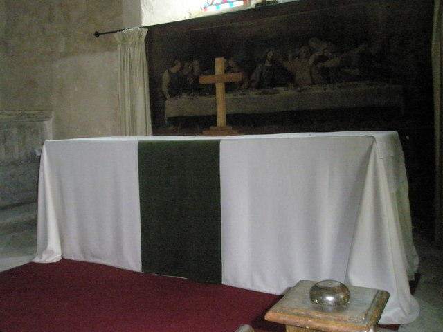 The altar at St George's, Trotton