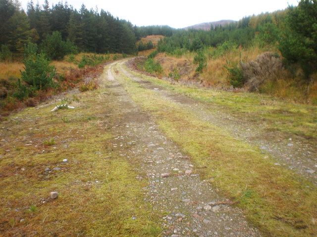 Track going up towards Meall Adhar above Loch Loyne